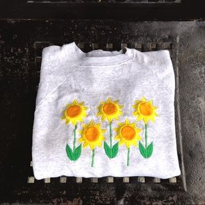 Vintage 90's sunflower embroidered crewneck